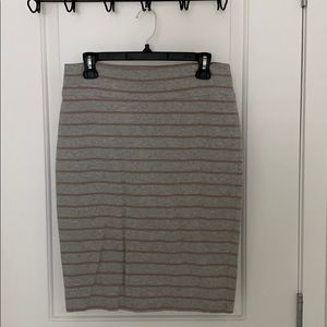 Fitted Skirt - Mauve and Grey